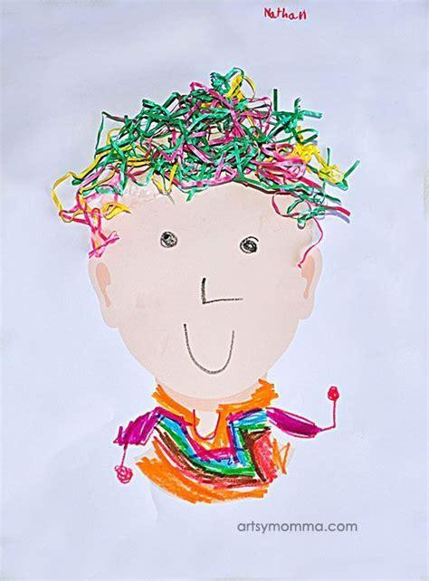repurposed easter grass hair craft idea  kids crafts