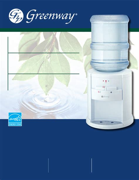Manual Water greenway home products water dispenser gwd2630w 1 user guide manualsonline