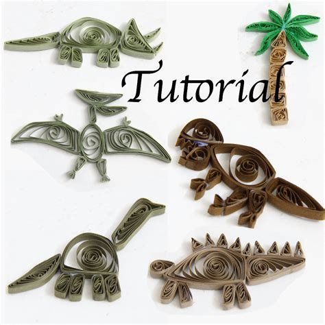 quilling designs tutorial pdf tutorial for paper quilled dinosaurs pdf for decorative pieces