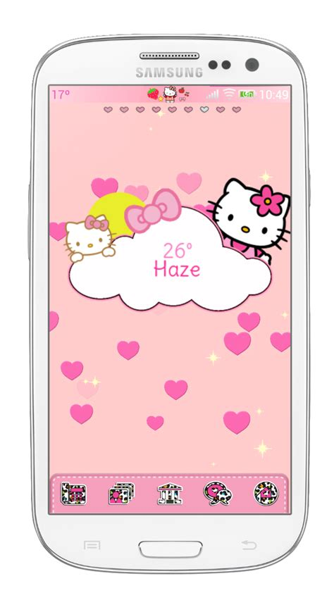 uccw hello kitty themes pretty droid themes weather hello kitty uccw