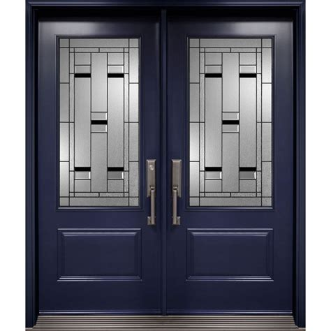 Exterior Door Glass Insert Entry Door From Prestige Collection With 3 4 Hollister Decorative Glass Inserts