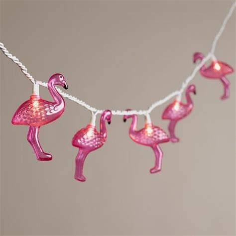 Flamingo String Lights Flamingo 10 Bulb String Lights World Market