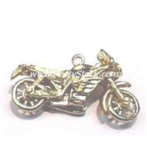solid 14k gold motorcycle pendant charm harley davidson