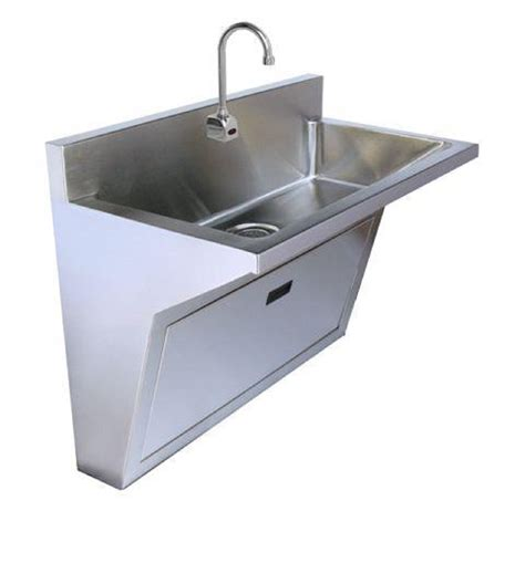 wall hung utility sink stainless steel single station surgeons wall hung scrub sink