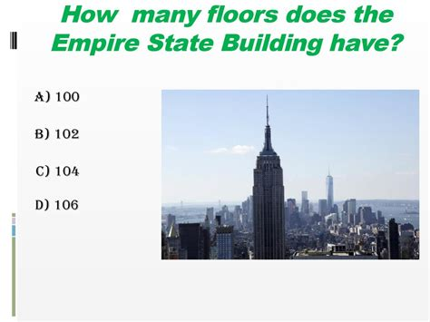 How Many Floors Did The Empire State Building do you the usa