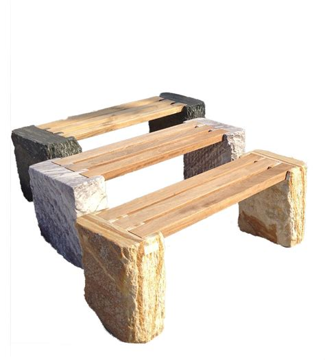 stone and wood bench carat mining