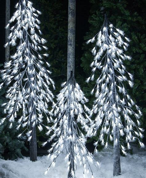 white frosted tree cool white led frosted tree alpine tree lighted tree