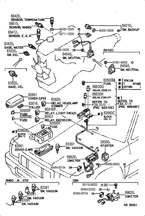 toyota 4runner engine diagram 94 toyota t100 fuse box diagram 94 get free image about