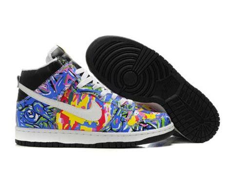 multi colored nikes custom nike graffiti explosion sb dunk high multicolored
