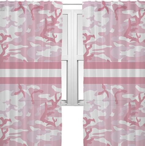 camo sheer curtains pink camo sheer curtains personalized youcustomizeit