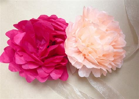 fiori di carta crespa come fare lavoretti di primavera con carta crespa mamme