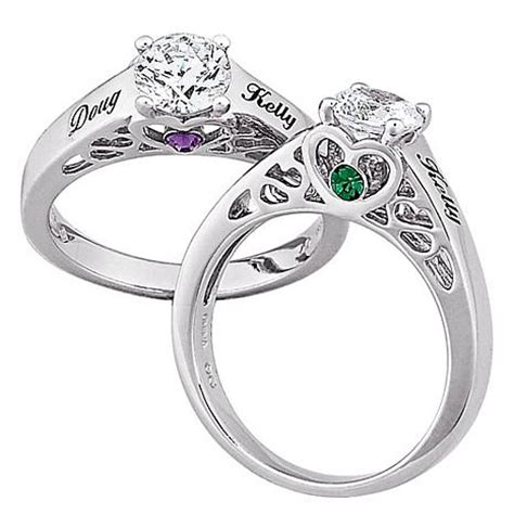 sterling silver s name and birthstone cz promise