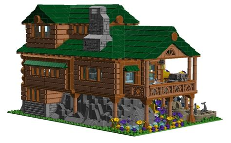 lego log cabin lego ideas log cabin home