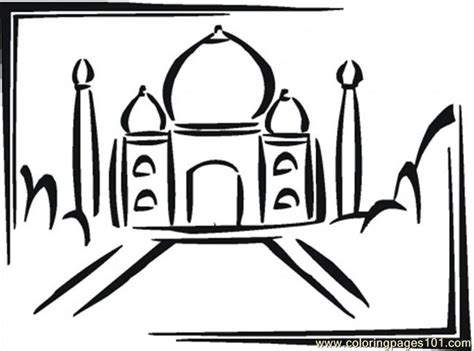 taj mahal in india coloring page free india coloring