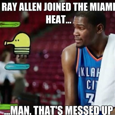 doodle jump kevin durant allen joined the miami heat that s messed