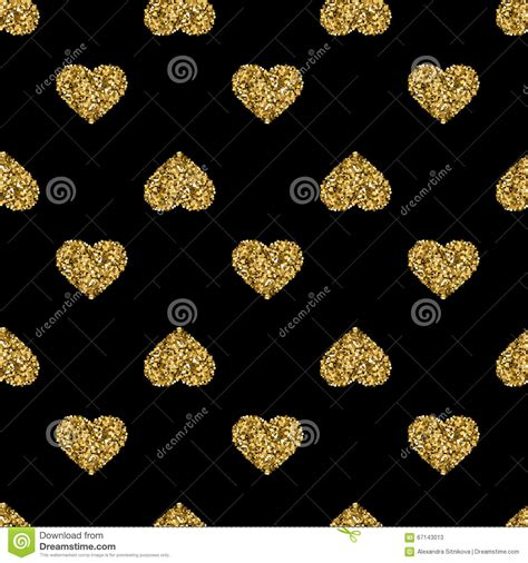 gold heart pattern wallpaper seamless pattern with gold glitter hearts on black
