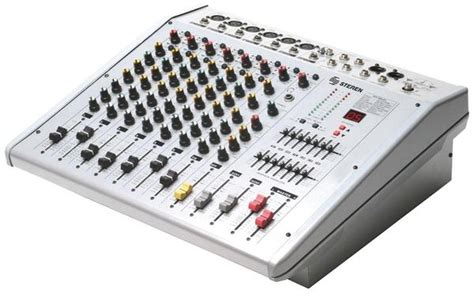 Power Mixer Q8p 8channel 8 channel 400 watt rms powered mixer with equalizer mix 380 circuit direct