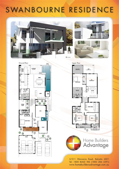 Floor Plans Narrow Lot by Modern Split Level House Design