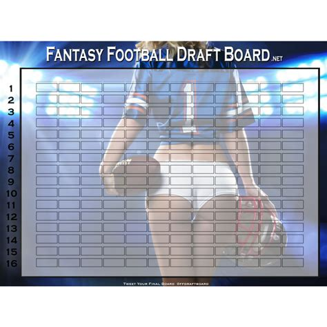 fantasy football draft board 2017 custom boards w your