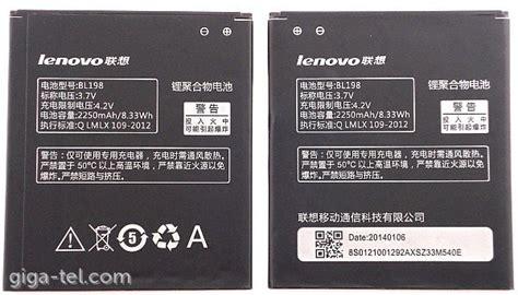 Baterai Lenovo Bl 198 A850 A830 K860 S880 S890 A860e S8 Limited lenovo bl198 battery
