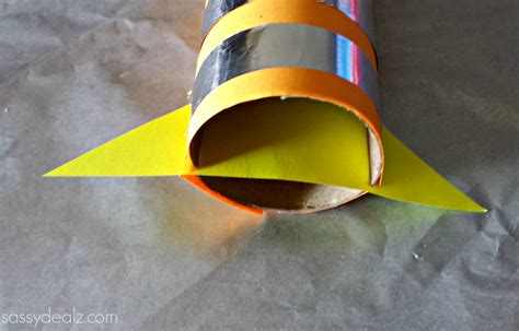 How To Make A Spaceship Out Of Paper - rocket toilet paper roll craft for crafty morning