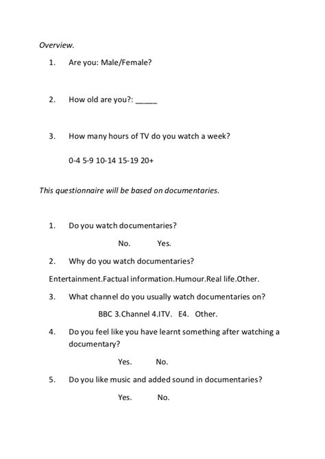 thesis about bullying slideshare audience questionnaire