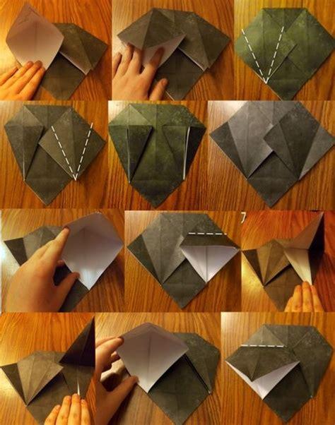 How To Make Paper Batman Mask - origami batman mask