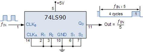 74ls90 Dip 14 Ic Decade Counter bcd counter circuit using the 74ls90 decade counter