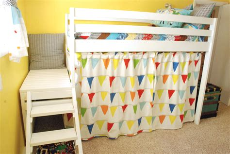 how to make bunk bed curtains ana white diy jr c loft bed with curtain diy projects