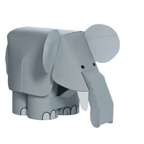 Paper Craft Elephant - carta paper models pictures