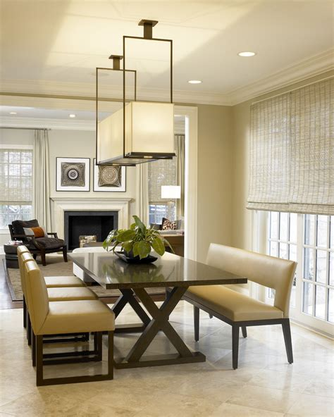 Rectangular Light Fixtures Bathroom Transitional With Contemporary Dining Room Light