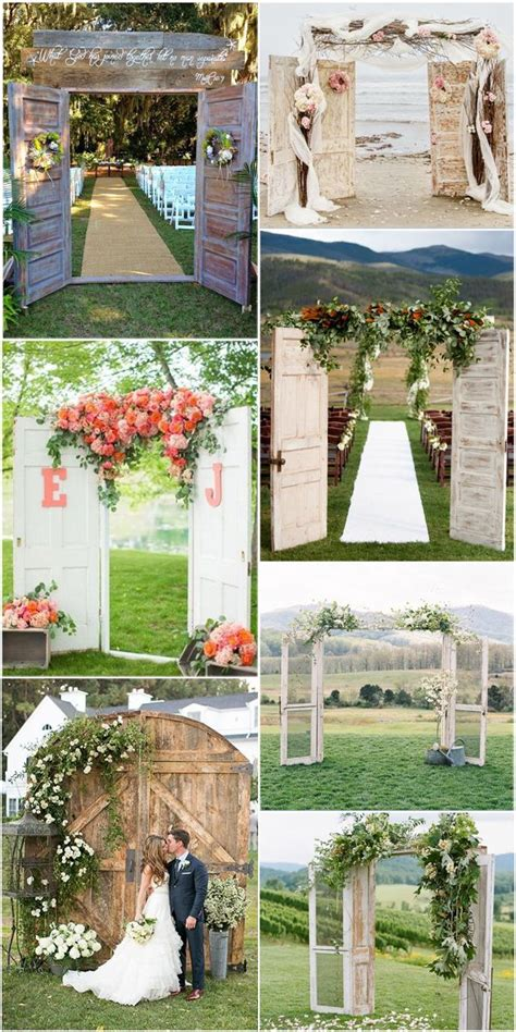 Wedding Arch Made From Doors by Best 25 Wedding Door Decorations Ideas On