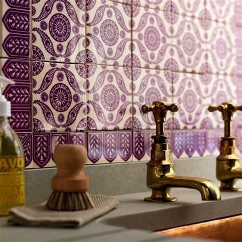 moroccan tiles kitchen backsplash purple backsplash moroccan tiles room decor pinterest