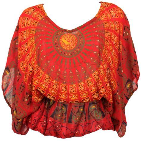Kain Batik Printing Alusan Print Als 025 hippie top batwing sleeve batik tribal print festival floaty kaftan hippy boho ebay