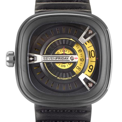 Seven Friday Sf M2 Yellow Black Leather Automatic sevenfriday m series m2 01 sf m2 01 ebay