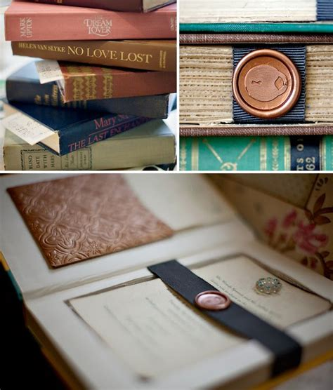 wedding invitation book vintage books as wedding invitations green wedding shoes