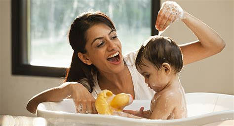 bathing baby baby care dettol