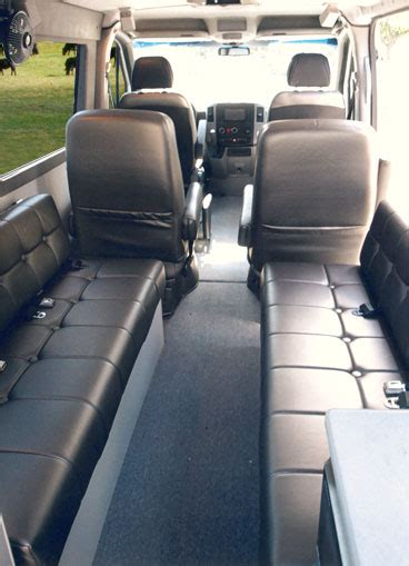 Storage Bench Seat by Sprinter Dyo 8 Captain Seats Sportsmobile Custom Camper Vans