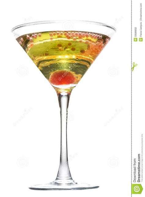 apple martini with cherry apple martini stock photography image 33586832