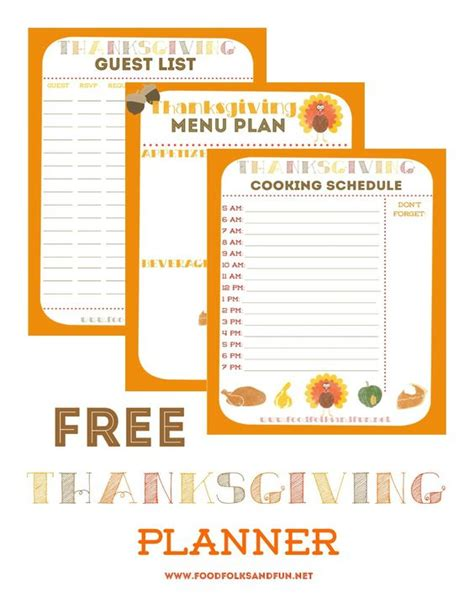 thanksgiving meal planner template 15 thanksgiving planning printables and checklists tip