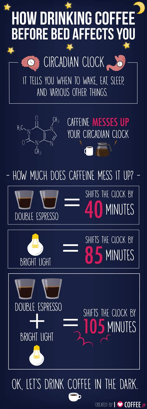 drinking coffee before bed can you drink coffee at night daily genius