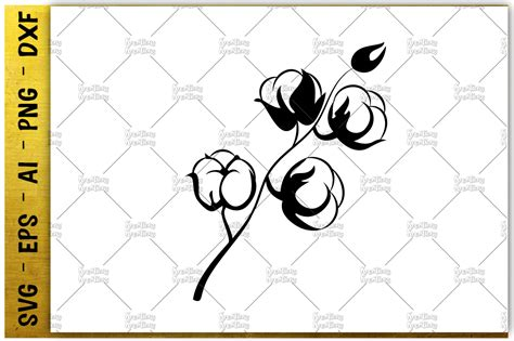 printable cotton fabric silhouette cotton picking plant svg printable iron cut file vector
