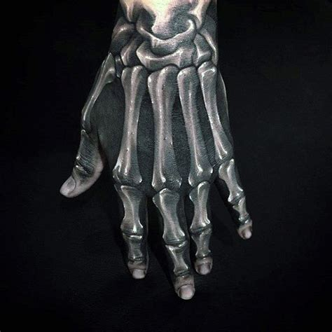 hand bone tattoo 75 skeleton designs for manly ink ideas