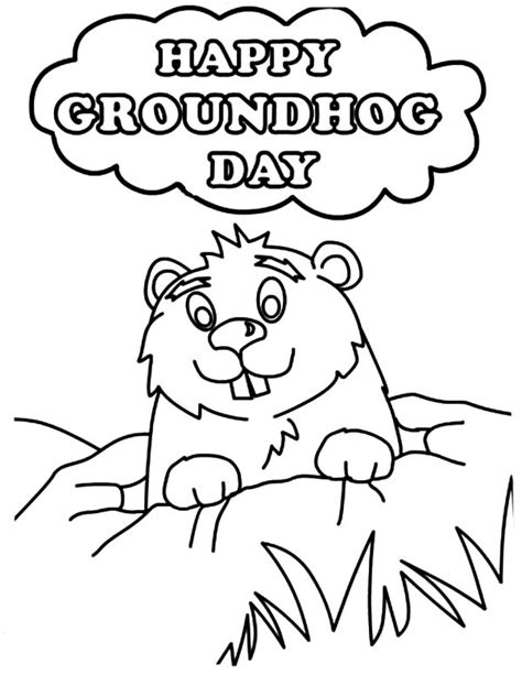 Groundhog Day Coloring Page 25 best groundhog day pictures and images