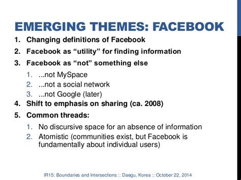 emerging themes definition privacy and control in mark zuckerberg s discourse on facebook