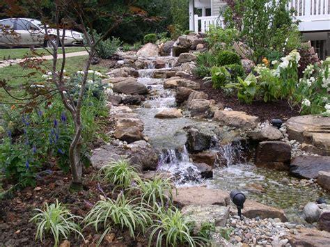 backyard waterfalls pictures garden waterfall pictures backyard waterfalls stream
