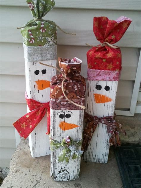 christmas wood snowman craft ideas