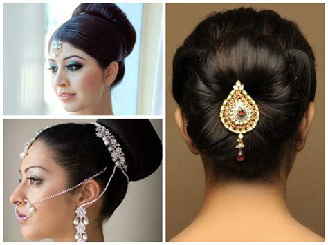 hairstyles for buns indian indian wedding hairstyle ideas for medium length hair