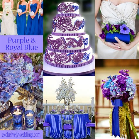 Wedding Colors by Blue Wedding Color Five Combinations