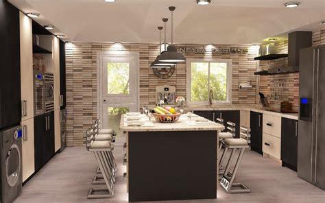 create realistic  rendering  kitchen design